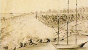 First windmill at left in view of Sydney Cove c 1800-01