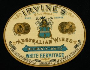 Medals won by Best's Great Western wines continued to be featured on Hans Irvine's wine labels.