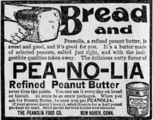 Peanolia peanut butter ad 1899