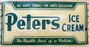 Old Peters Ice Cream sign