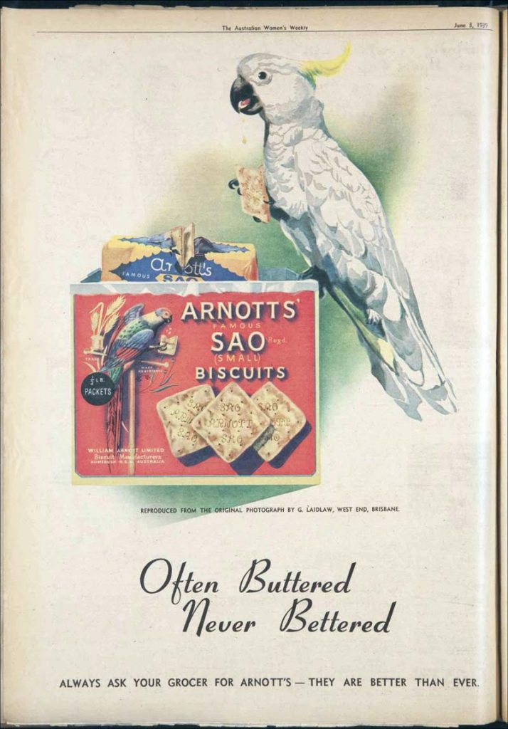 SAO biscuits advertisement