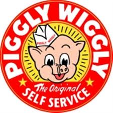 Piggly Wiggly self-service grocery store logo