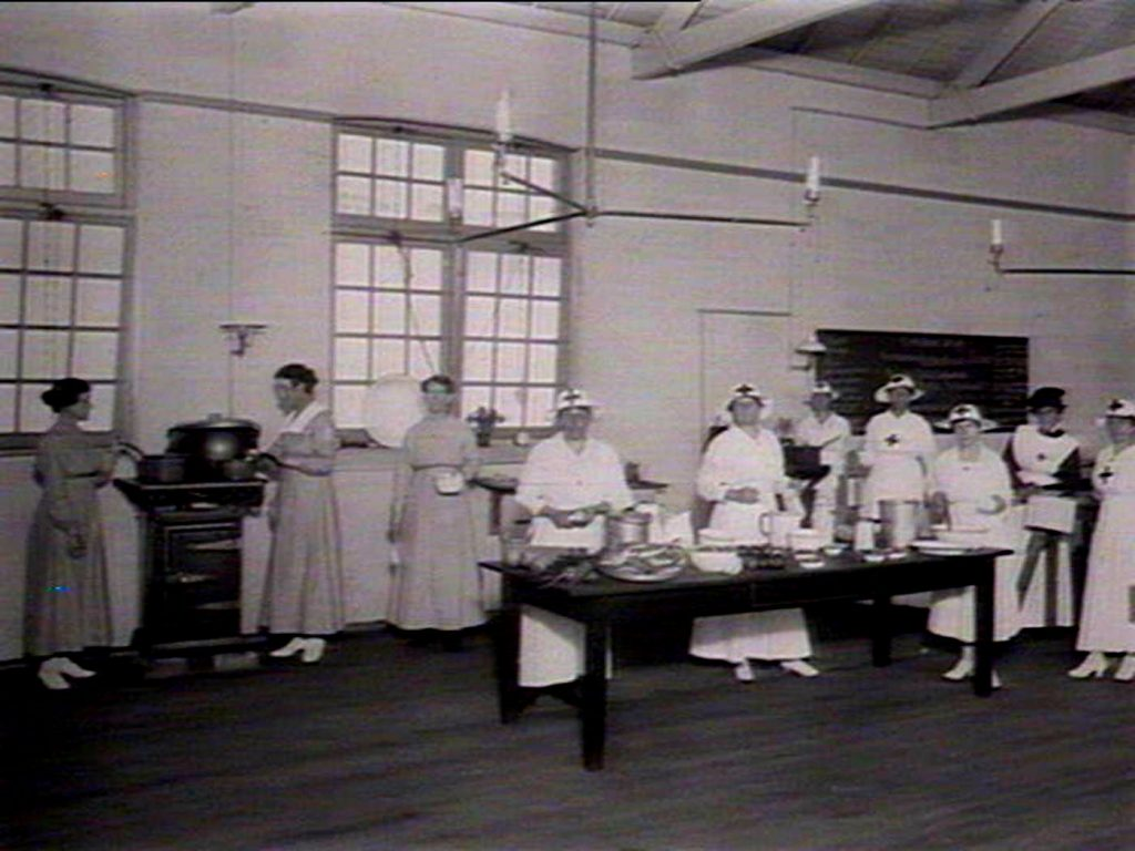 Red Cross kitchen, Balmain, during the Spanish flu epidemic