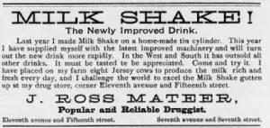American milk shake ad
