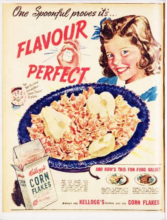 Corn Flakes packaging 1946