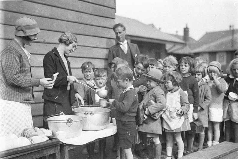 Soup for children during the Great Depression