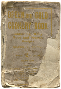 Green and Gold cookery book cover