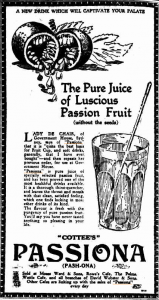 Passiona Advertisement 1927