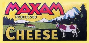 Maxam Cheese label