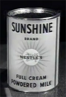 Sunshine Milk can