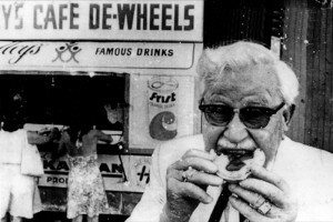 Colonel Sanders at Harry's Cafe de Wheels