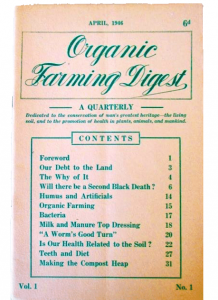 Organic Farming Digest - journal of the world's first organic farming society
