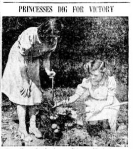 Royal Victory Gardens - Princesses Elizabeth and Margaret at Windsor Castle