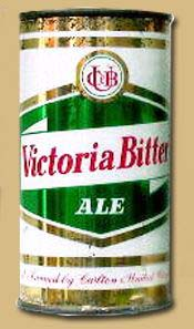 First beer cans - Victoria Bitter