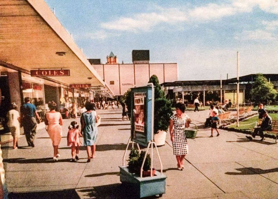 Chadstone shopping centre in its early years