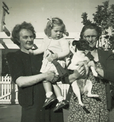 Mum, Jan, Spotty and Aunt