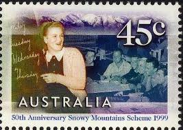 Snowy Mountains Scheme commemorative stamp