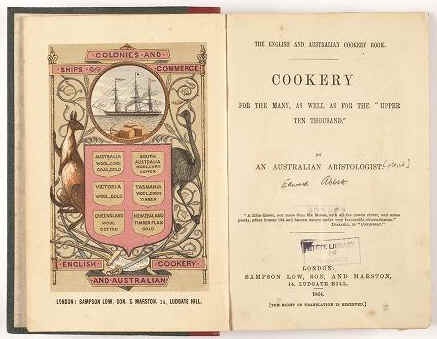 Australia's first cook book