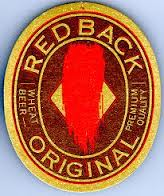 Red Back Beer label from Matilda Bay, one of the first boutique brewers