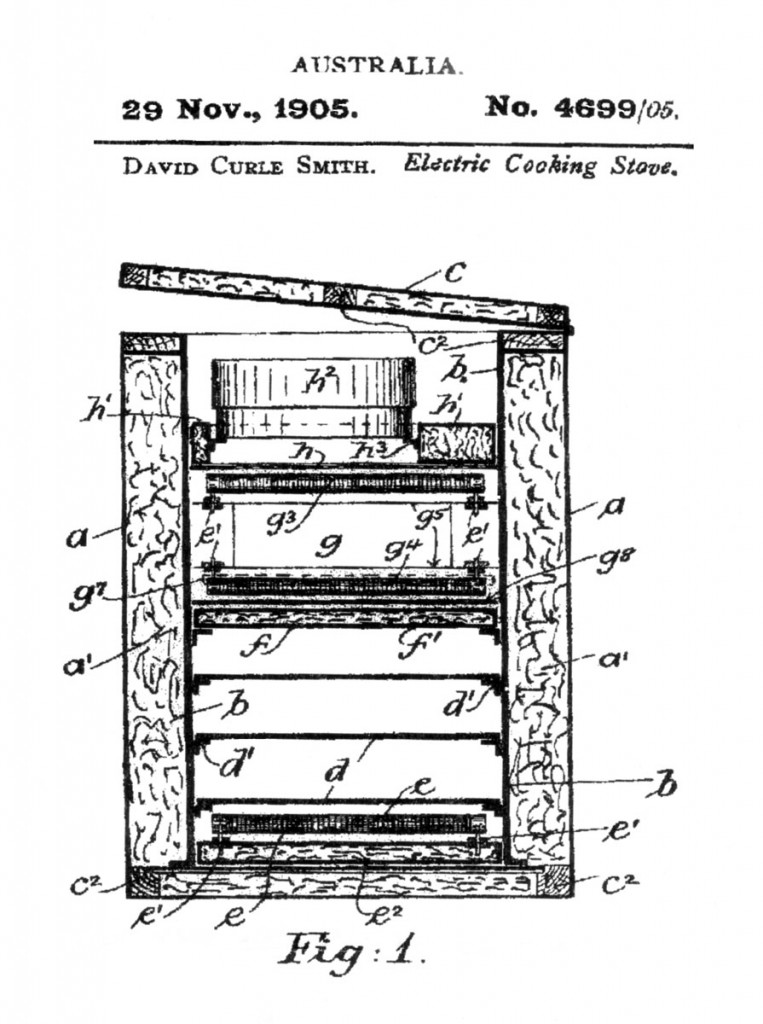 Kalgoorlie electric stove patent drawing