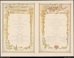 Federation Banquet menu