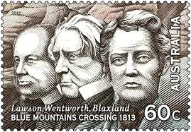 Blaxland Lawson and Wentworth commemorative stamp