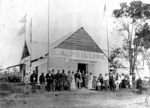 Refreshment hall at first Ekka