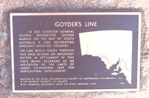 Goyder Line plaque