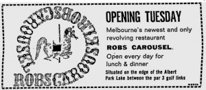 Rob's Carousel opening ad 7 November 1963