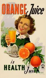 Railways juice bar poster