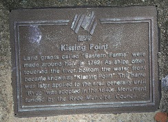Kissing Point plaque