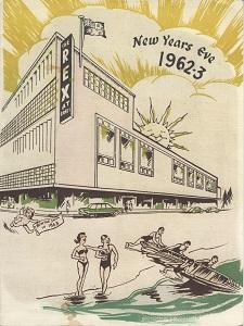 Hotel Rex New Year menu 1962-3