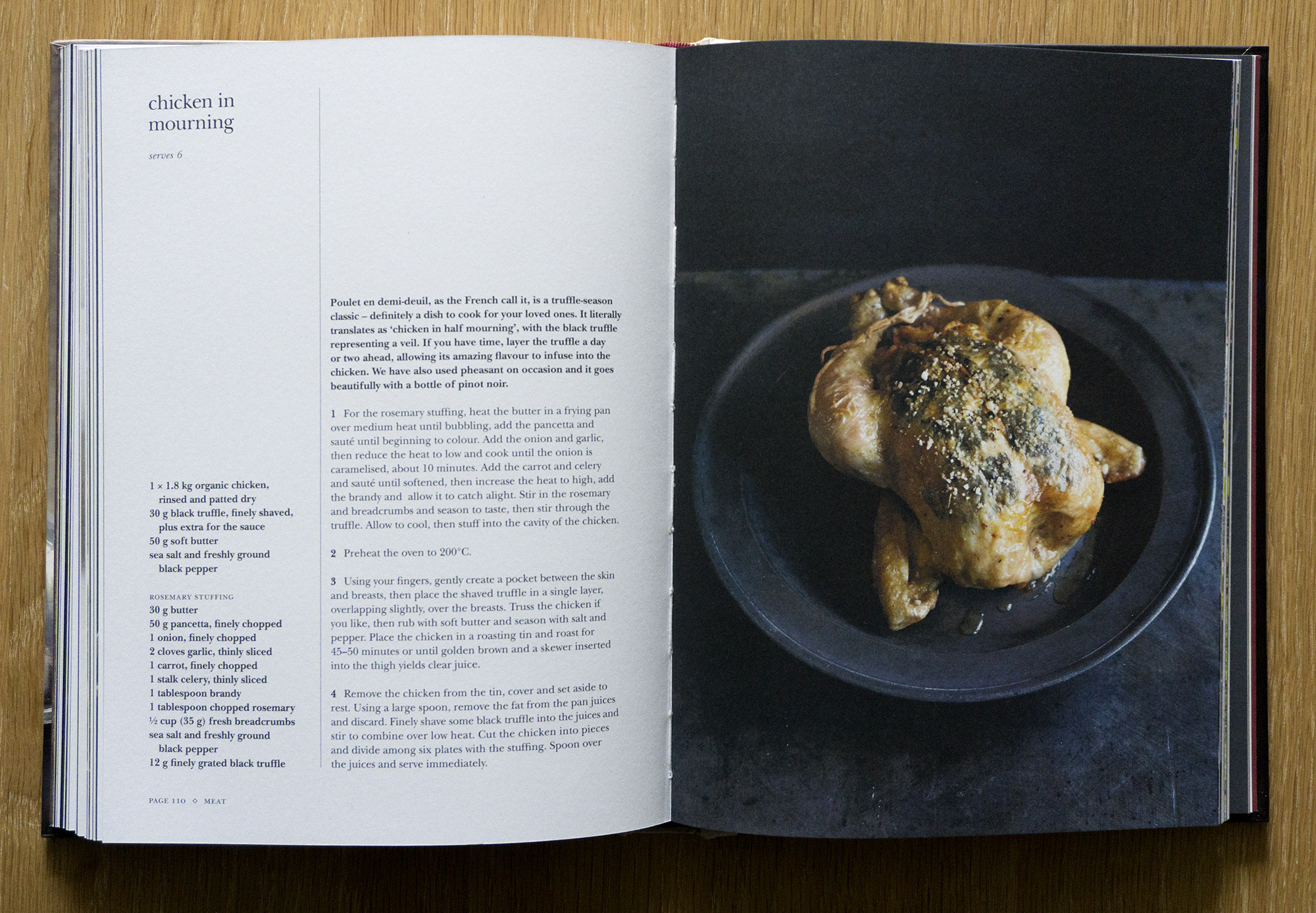 The truffle cookbook book review truffle cookbook chicken in mourning forumfinder Images