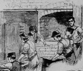Biscuit oven at our first biscuit company