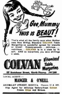 Colvan Margarine ad