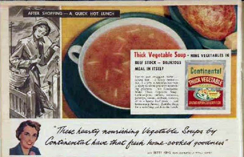Betty King promotes Continental soups