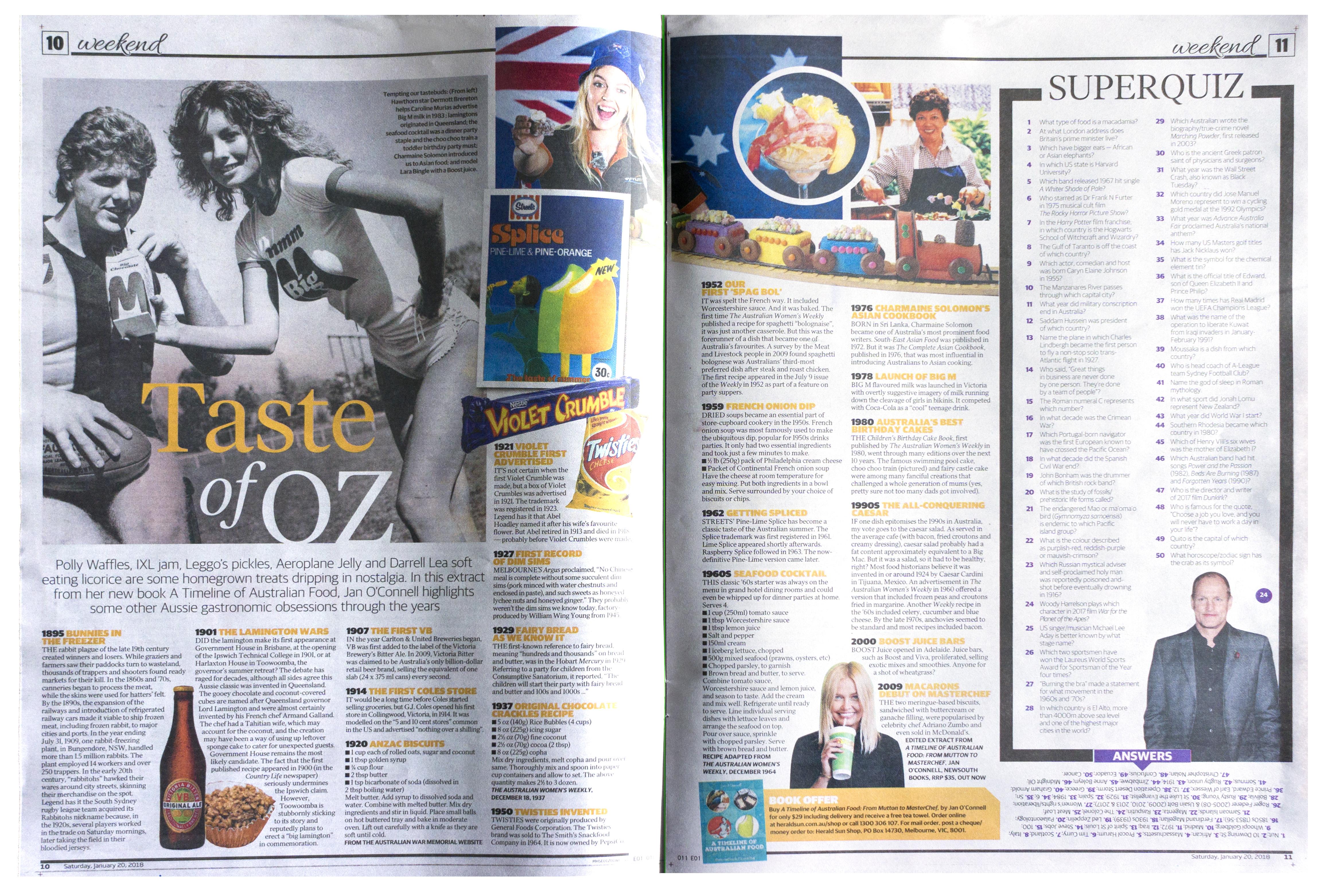 HeraldSun_20Jan18 - Australian food history timeline