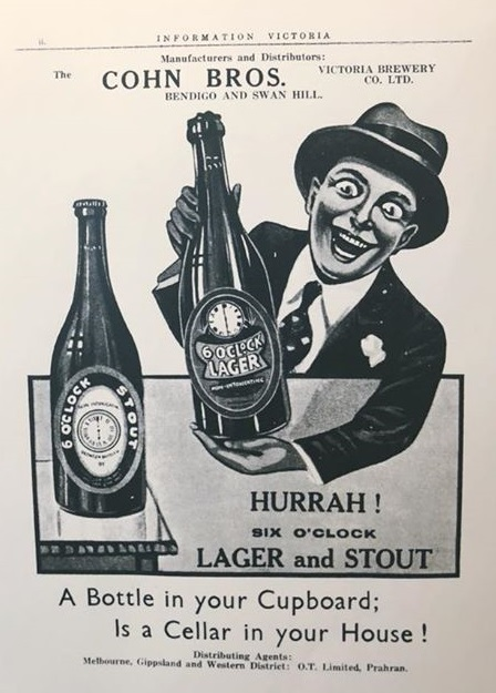 Cohn Brothers 6 o'clock Lager ad