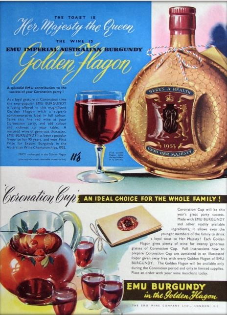Emu Burgundy commemorative flagon