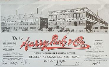 Harry Peck & Co London - home of Peck's pastes
