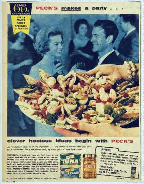 Peck's pastes and canned products - advertising