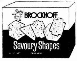 Brockoff's Savoury Shapes - from press ad