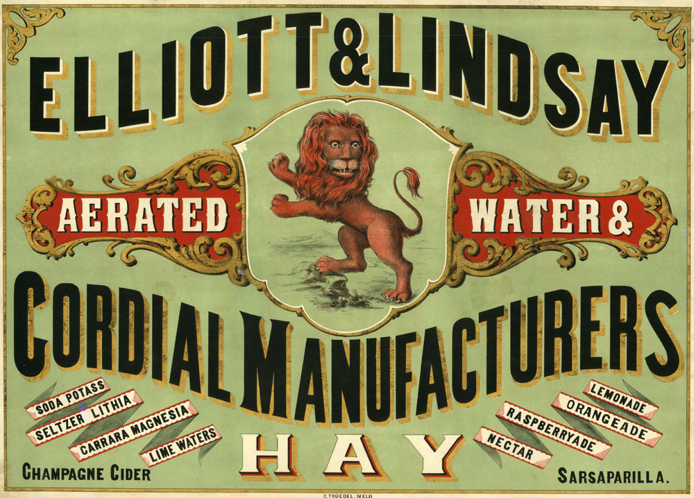 Cordial Label 1870s