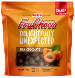 FruChocs milk chocolate variety