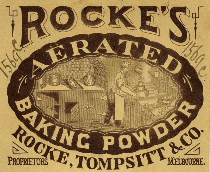 Rocke's Aerated Baking Powder label