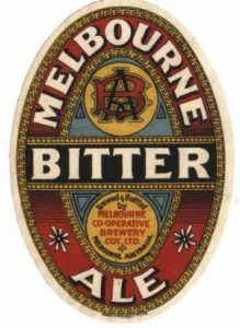 Melbourne Bitter label from Melbourne Co-operative Brewery Company