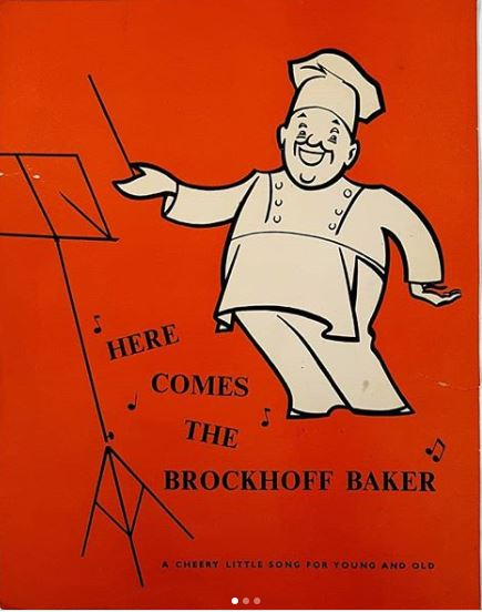 Cover of Brockhoff's Biscuits jingle sheet music