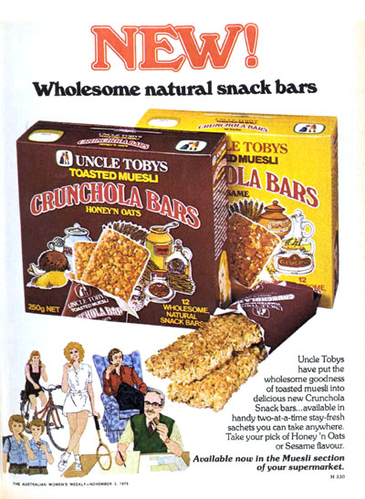 Launch ad for the first muesli bar