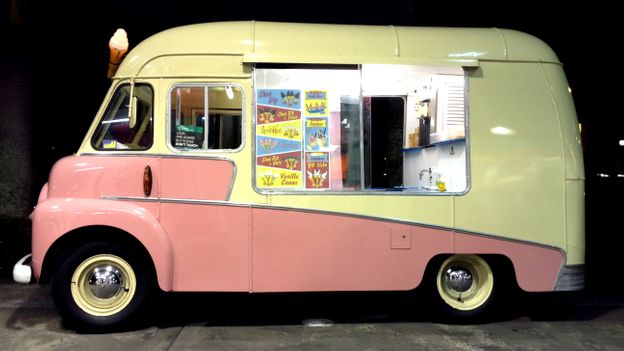 Vintage Mr Whippy van