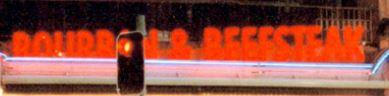 Bourbon & Beefsteak sign